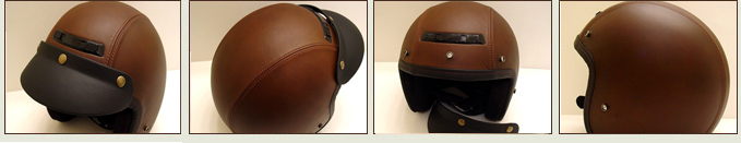 Custom Leather Helmets